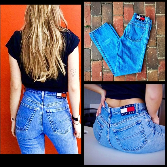 5b69ef5e 90's👖Tommy Hilfiger High-Waist Vtg Jeans. M_5a7df7409d20f095e24cd5fa